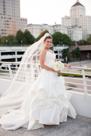 Modern Strapless Bridal Gown