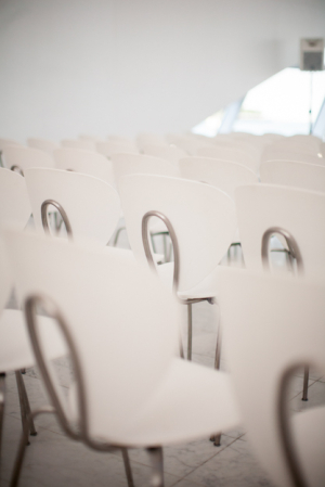 Modern White Ceremony Chairs
