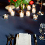 Navy Reception Linens