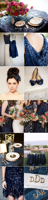 Navy Sequin Wedding Inspiration
