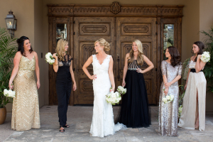 Old Hollywood Inspired Bridesmaids