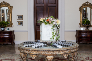 Ornate Reception Place Card Table