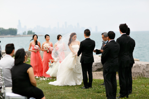 Outdoor Chicago Waterfront Wedding Ceremony