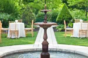 Outdoor Fountain at Reception Venue
