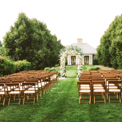 Outdoor Private Home Wedding