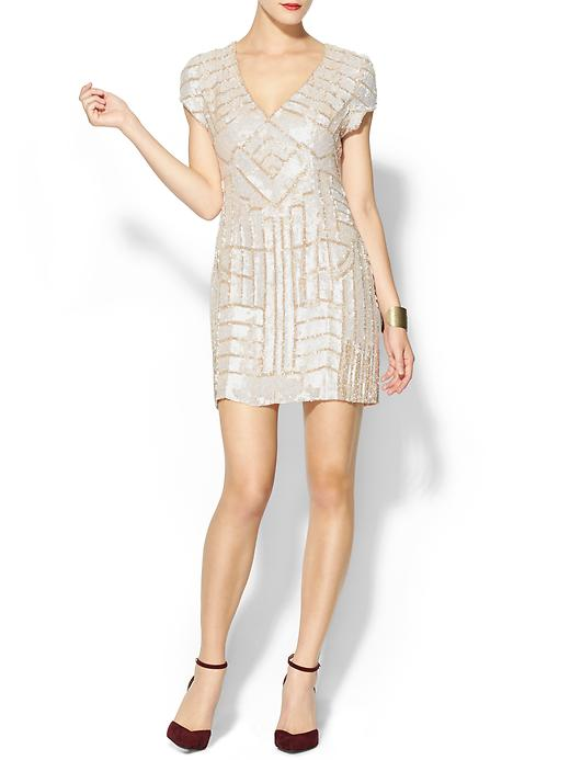 Parker Serena Silk Sequin Dress