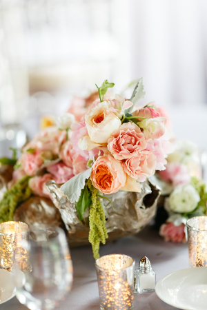 Pastel Floral and Mercury Glass Reception Decor