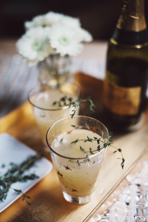 Pear and Thyme Mimosa Recipe