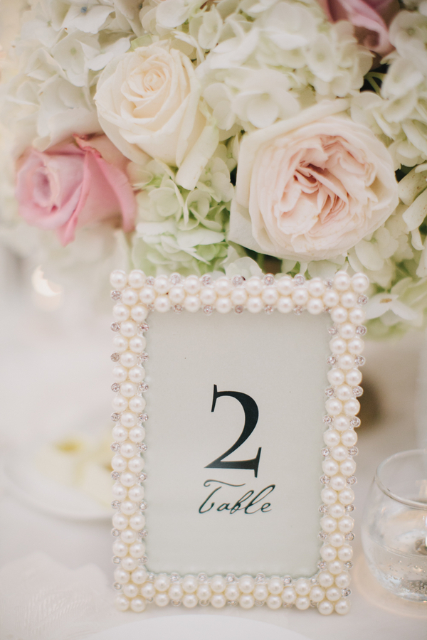 Pearl Frame Table Number