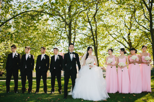Pink and Black Wedding Party