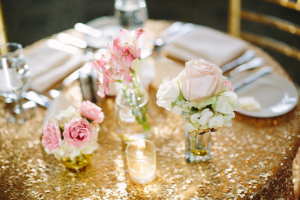Pink and Gold Reception Decor Ideas