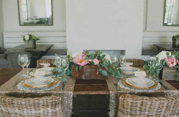 Pink and Gold Tabletop