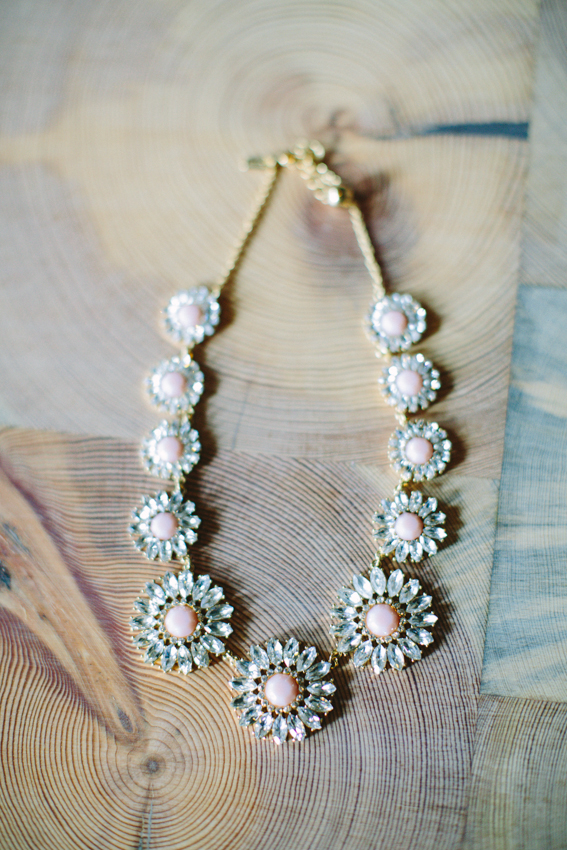 Pink and Silver Bridal Statement Necklace