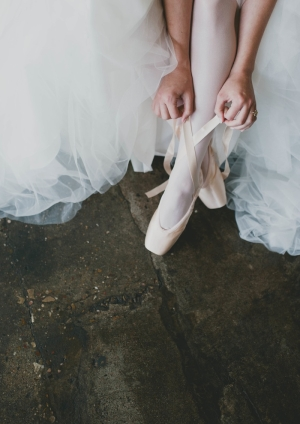 Pointe Shoes on Bride