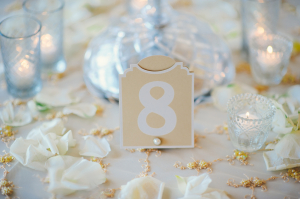Reception Table Numbers With Pearls