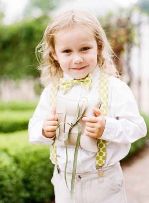 Ring Bearer in Suspenders