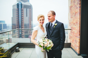 Rooftop Wedding Portrait by The Goodness