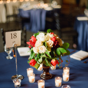 Rose and Magnolia Reception Centerpiece