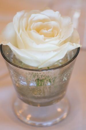 Rose in Mercury Glass