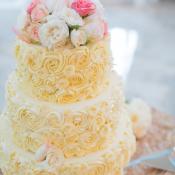Rosette Iced Wedding Cake