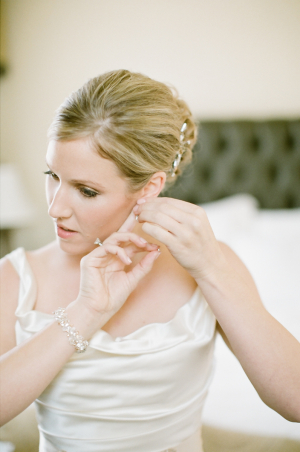 Scoop Neck Satin Bridal Gown