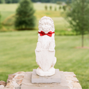 Sculpture in Bow Tie at Wedding