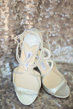 Silver Jimmy Choo Sandals
