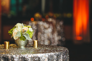 Silver Sequin Table Linen