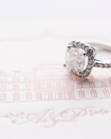 Square Diamond Engagement Ring
