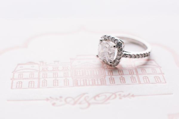Square Diamond Engagement Ring