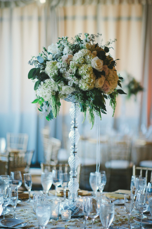 Tall Ivory Centerpiece