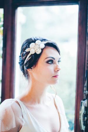 Tulle Flower Headpiece