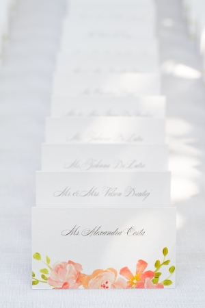 Watercolor Floral Place Cards