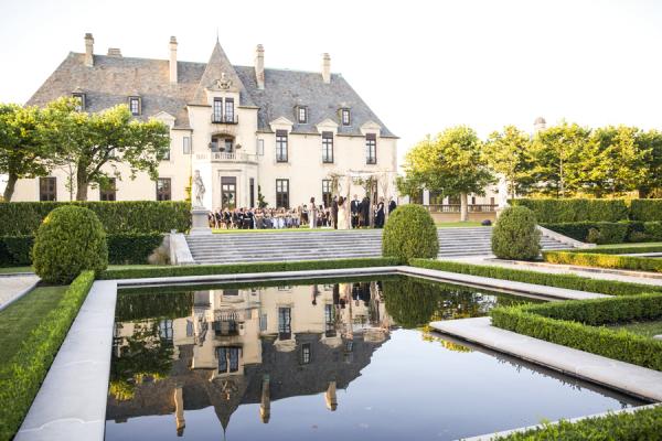 Wedding Ceremony on Castle Lawn