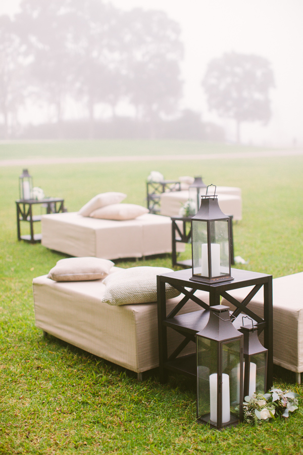 Wedding Lounge Area with Candles