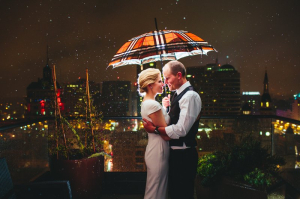 Wedding Portrait Under Umbrella