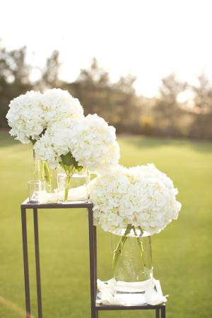 White Hydrangea Wedding Decor
