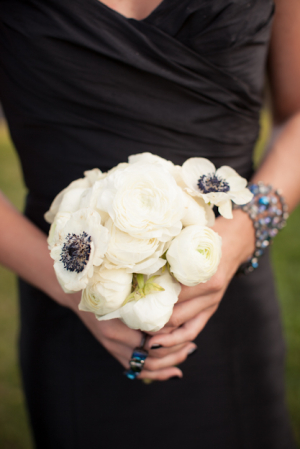 White Ranunculus and Anemone Bouquet