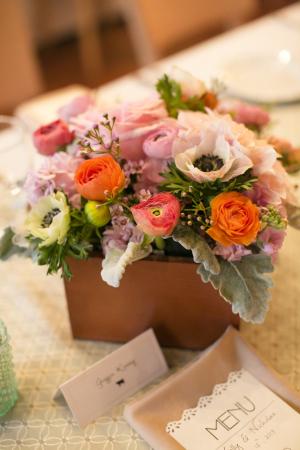 Anemone Ranunculus Rose Centerpiece