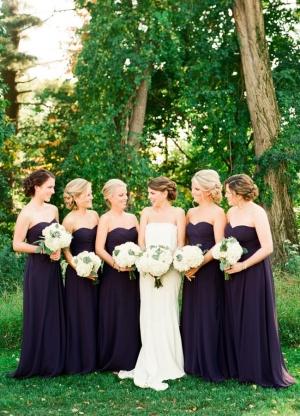 Aubergine Bridesmaids Dresses