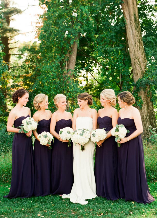 Aubergine Bridesmaids Dresses Elizabeth Anne Designs