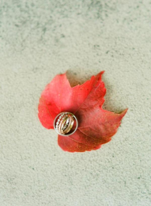 Autumn Wedding Ring Photo