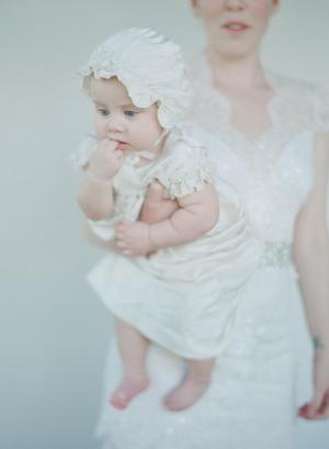 Baby in Bonnet at Wedding