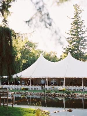 Backyard Tent Wedding Reception