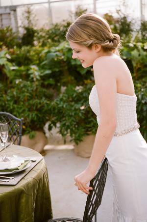 Beaded Waistline on Bridal Gown