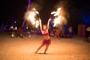 Belly Dancer with Fire