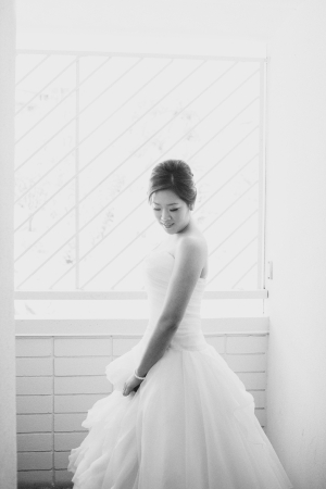 Black and White Bridal Portrait From Christine Farah