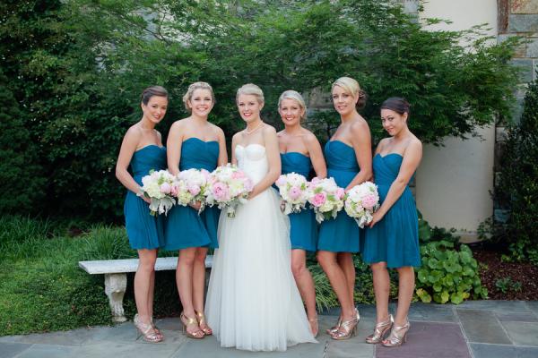 Blue Bridesmaids Dresses
