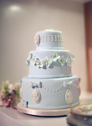 Blue Cake with Cameos