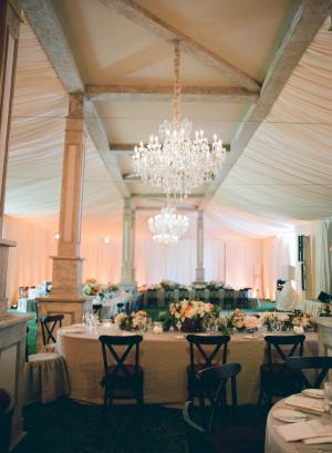 Blush Tented Wedding Reception